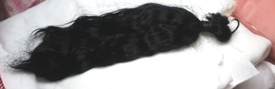 モヘア ドール植毛用 黒 ブラック