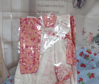 着物ドレス ピンク花びら