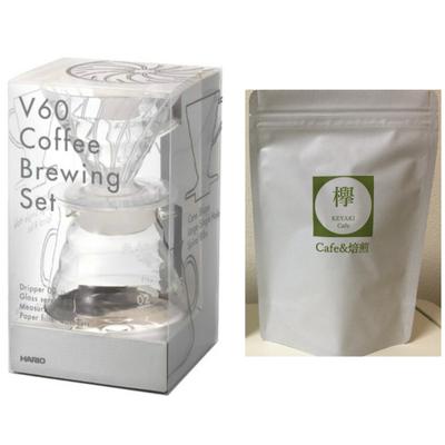 コーヒー豆 100g付き ドリップセット V60コーヒーブリューイングセット VDST-02T  HARIO