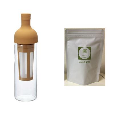 コーヒー豆100g 付き  フィルターインコーヒーボトル モカ 650ml FIC-70-MC HARIO