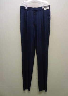 GARISON メンズスラックス 未裾上げ 立体裁断 紺色系(ウエスト85) 裾上げテープ付き