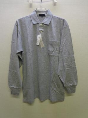 メンズ レナウン SIMPLE LIFE 長袖ポロシャツ グレー系(L)日本製