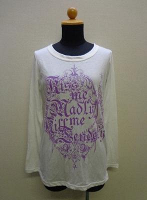 ALGONQUINS 長袖Tシャツ ホワイト×パープル系(F)