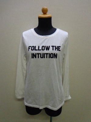 INGNI C・2段フロッキーロゴ 長袖Tシャツ オフホワイト(M)