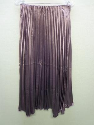KOBE LETTUCE 神戸レタス イレヘムプリーツスカートパープル M3105