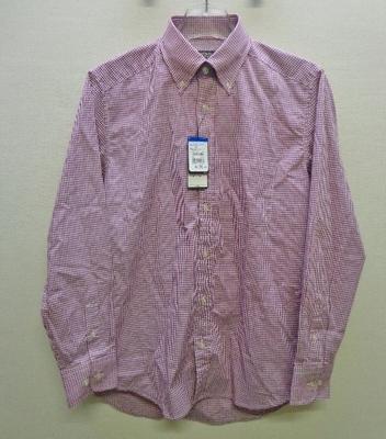 メンズ CHRISTIAN ORANI ギンガムチェック B/Dシャツ レッド&ホワイト(M/首周り39cm、裄丈82cm)