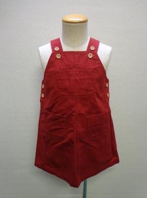 子供服 BRANSHES ブランシェス ジャンパースカート 赤色系(110)