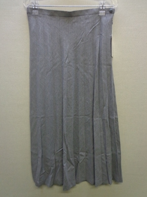 YOUELU BY Sabrina Cressend PARIS プリーツスカート 大きいサイズ ライトグレー(76-97)