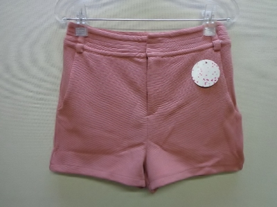 2plus8 ショートパンツ 横畝コーデュロイ風 シェルピンク色系(M)