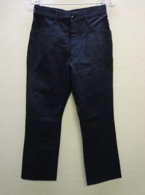 BOBSON LADY'S ブラックパンツ 薄手 日本製(L)
