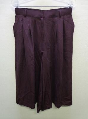 レディスヒロタ YOUELU ガウチョパンツ ワイドパンツ 大きいサイズ 日本製 ボルドー色系(W74~78)