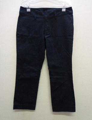 ニッセン クロップドパンツ 大きいサイズ ブラック(73-97)