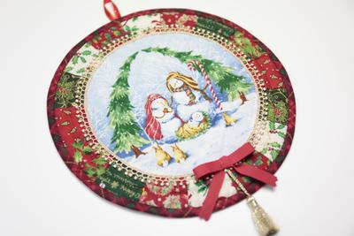 AK038.スノーマンファミリーのクリスマス
