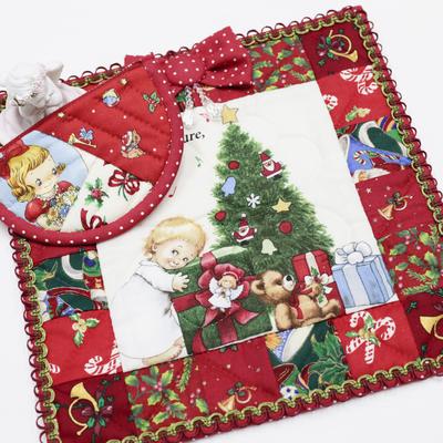 K101.〔キット〕小さなクリスマス(タペストリーとミニポーチセット)※予約