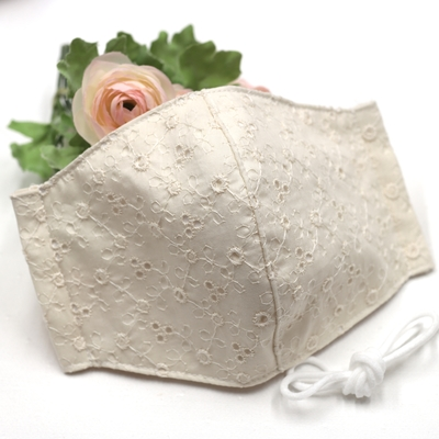 MS045.立体型布マスク(ミューファン抗菌さらし使用)