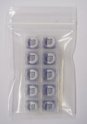 縦形チップアルミ電解コンデンサ MVK10VC100MH63(10個入)