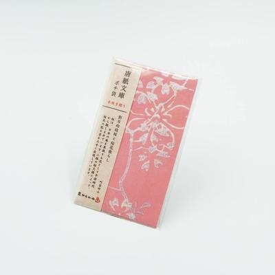 唐紙文庫 ポチ袋 影日向枝桜と桜花散し