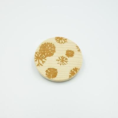 唐紙文様ブローチ 海松の丸