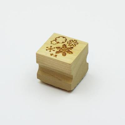 Karakami stamp 四季雪花B