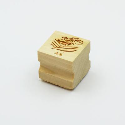 Karakami stamp 四季大浪