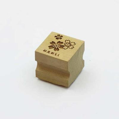 Karakami stamp 四季桜花散らし