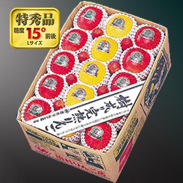 特秀品[蜜入りサンふじ・シナノゴールド]詰合せ