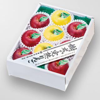 樹成り完熟りんご JA江刺産・蜜入りサンふじ シナノゴールド詰合