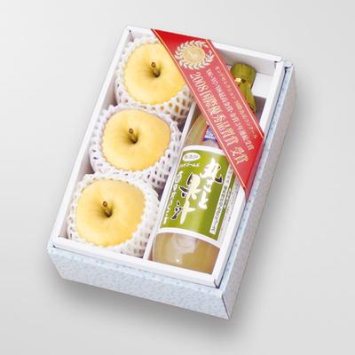 極めつけりんごジュース1本・パリパリシナノゴールド3玉