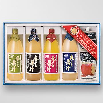 果汁Fセット ジョナゴールド・はるか・サンふじ・サンつがる各1本・飲むゼリー3袋