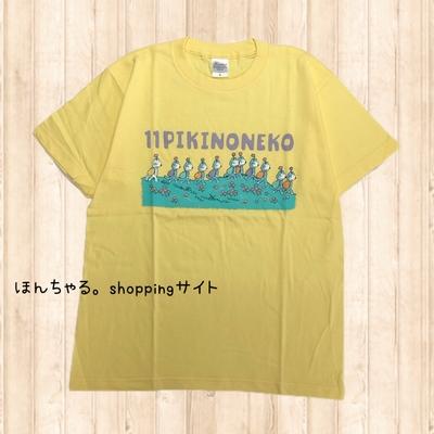 11ぴきのねこ地球TシャツイエローS【男女兼用サイズ】