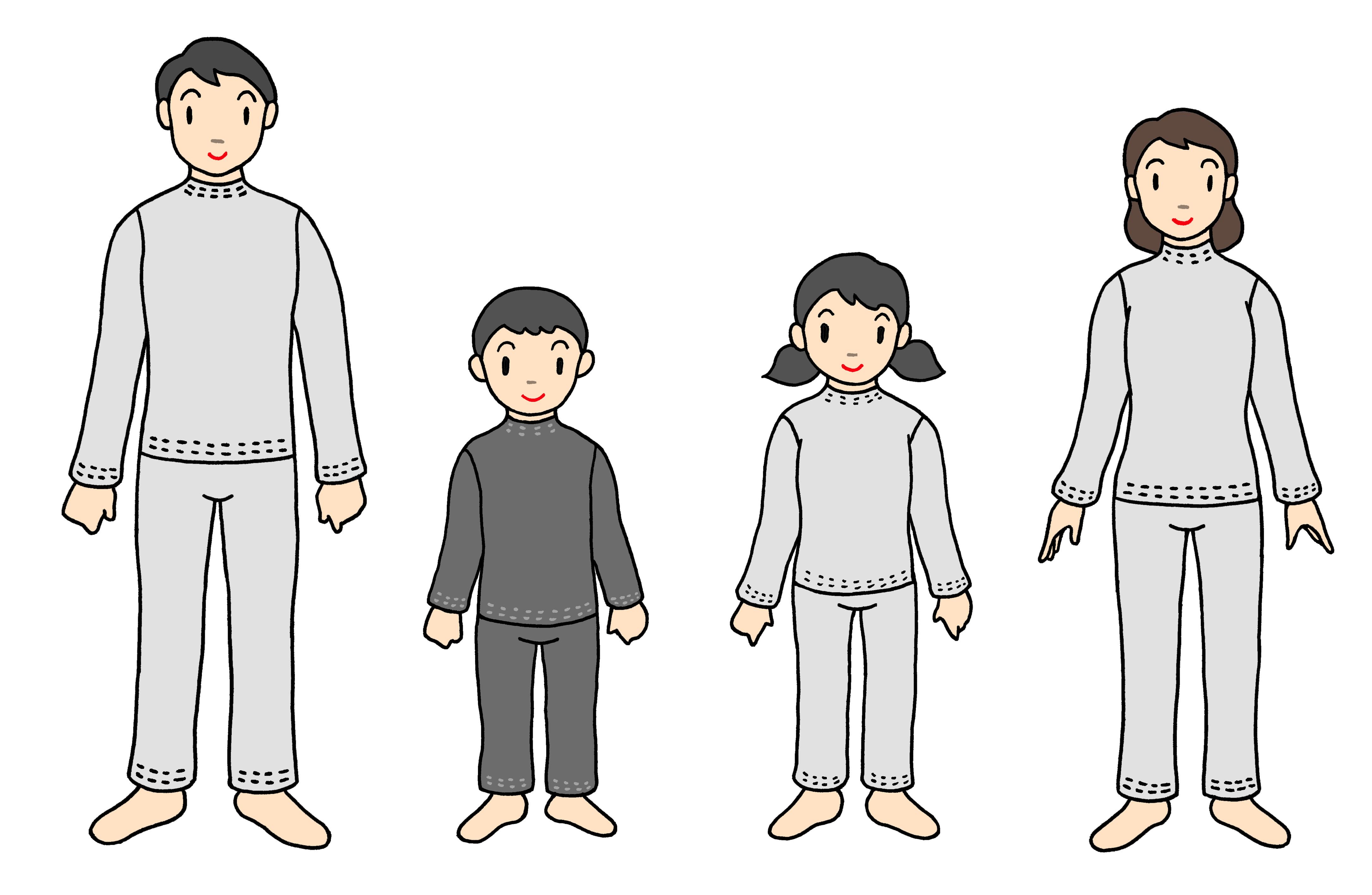 普通縫製パジャマ