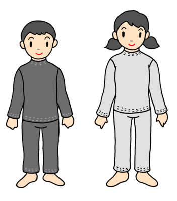敏感肌キッズオーダーパジャマ(袖ポケットなし)