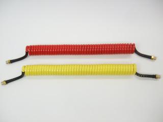 3 コンパクトタイプコイル式エアーホース/5.5mロングセット/赤黄青黒4色/全10通り