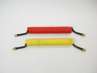2 コンパクトタイプコイル式エアーホース/4.0mショートセット/赤黄青黒4色/全10通り