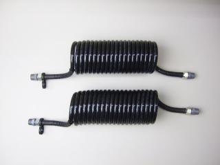 1-3 コイル式エアーホース黒/黒 4.0mショートセット