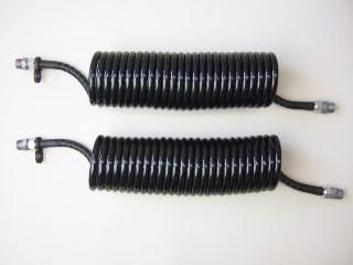 1-2 コイル式エアーホース黒/黒 5.5mロングセット