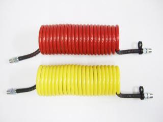 1-1 コイル式エアーホース赤/黄セット