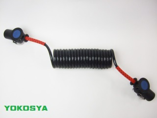 11-0 コイル式ABS/EBS共用ジャンパケーブル ショート4.5m 両端同プラグ