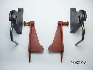 4トンクラスダンプ テールゲートヒンジ・シャフト左右4点セット「YH-1019LR YH-1010LR」
