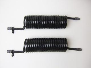 1-4 コイル式エアーホース黒/黒 4.5mセット
