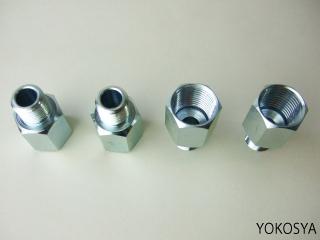 """15-033 特殊コネクタ/R1/2""""→16mm/4個セット"""