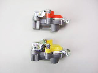 5-1 エアーストップ弁付カプラ/赤黄セット/スライドキャップタイプ