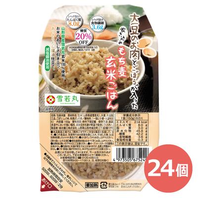 大豆のお肉とごぼうが入った炊き込みもち麦玄米ごはん 150g×24個入