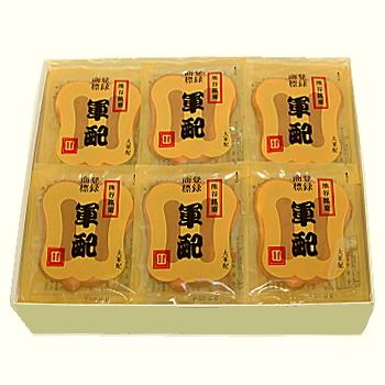 [ 熊谷土産 ] 大軍配瓦せんべい 47袋入
