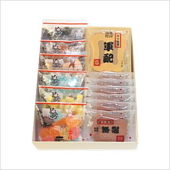 [熊谷のお菓子] 軍配せんべいとニシダ飴 贈りものセット