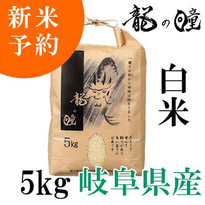【令和2年産新米予約】岐阜県産・龍の瞳【白米】5kg※10月中頃以降発送予定です。