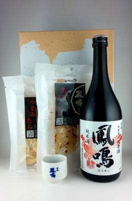 おつまみセット(田舎酒純米・つまみたら・炙りエイヒレ)