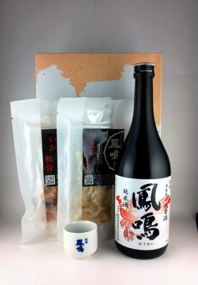 おつまみセット(田舎酒純米・つまみたら・いか軟骨)