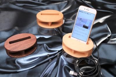 【名入れ無し】iPhone用木製無電源スピーカーMUKUNE 充電タイプ