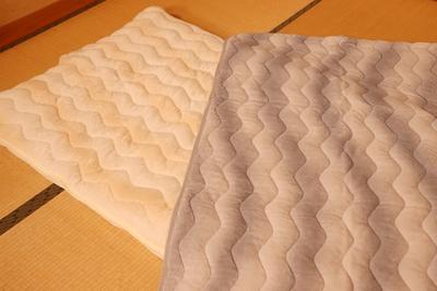 中綿たっぷりフランネル毛布生地敷きパットシーツ2枚組
